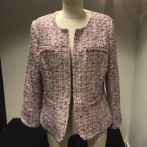 Pink silver tweed jacket